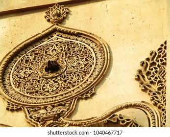 Various art and ornamental work on the main building of Golgumbaz at Bijapur (Vijayapura), Karnataka, India.