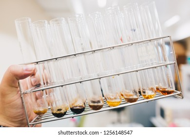 Various of Bacteria or Mold contaminated in test tube