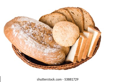 Various bakery products in a basket
