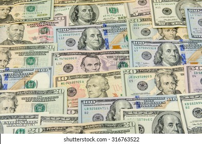 Various banknotes of US dollars