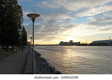 Various beautiful sunset scenes of Newcastle Harbour and foreshore at Lee Wharf and Queens Wharf areas