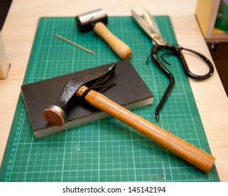 various Book Binding tools for use by hand