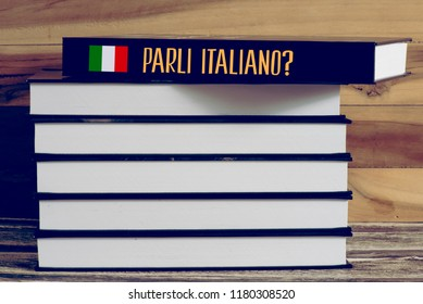 Various books and a book with the Italian title. Do you speak Italian