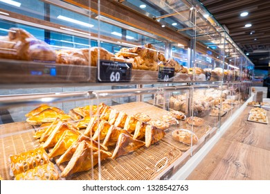 various bread and pie for sell in bekery shop,bake