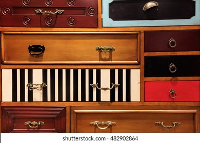 Various cabinet drawers inlaid in the cabinet, special decoration, art fan
