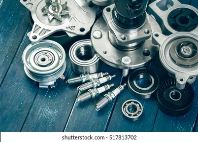 Various car parts - Shutterstock ID 517813702