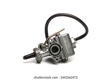 Various car parts and accessories, isolated on white background carburetor