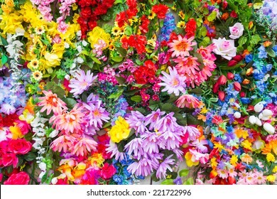 Various color flower background wall