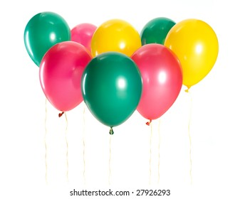 various colorful balloons