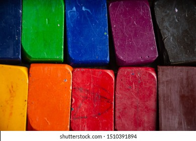 various colorful beeswax block crayons