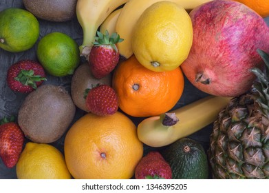 Various colorful tropical fruit for health