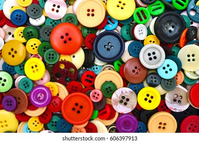 various colors buttons texture background tailoring pattern