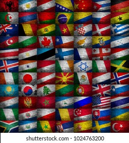 Various country flags collection