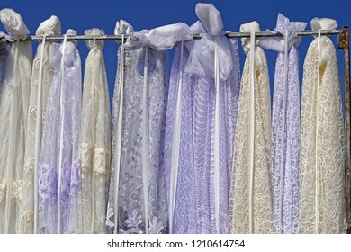 Various different drapery curtains drapes material selection