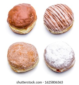 Various donuts from Berlin isolated