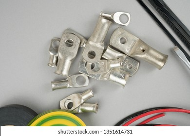 Various electrical components, lugs, terminals, ferrules, electricity industrial