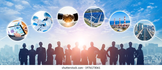 Various field industry and professional occupation concept. Sustainable society.