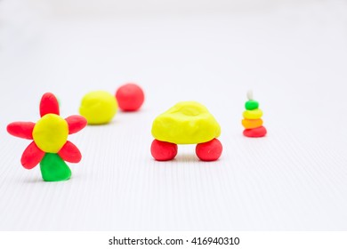 Various figures from plasticine