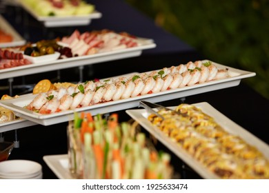 Various foods at the buffet restaurant
