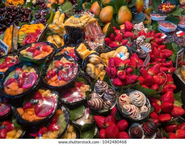 various fresh fruit