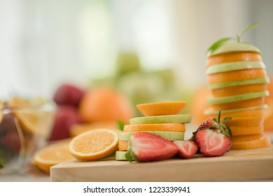 Various fruits, Eating Health care and Healthy concept