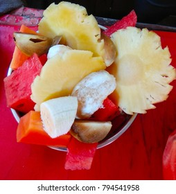 various fruits in a plate