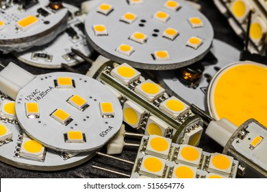 various G4 LED bulbs with different size, shape and performance of chips
