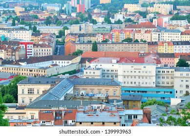 Various houses and streets in the city of Brno in Czech Republic