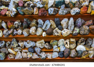 Various Icelandic rocks and minerals