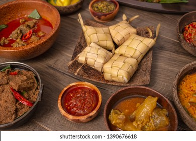 Various Indonesian cuisine from west Sumatera