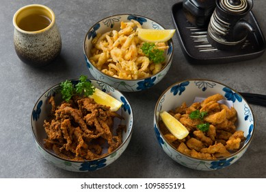 various japanese deep fried foods