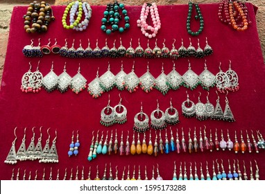 Various Jewels show in Kathmandu street