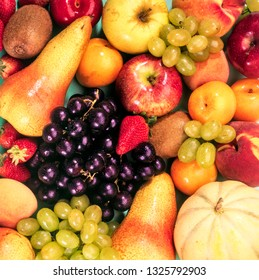 various kind of fruits forming a background