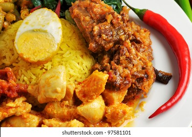 Various kind of indonesian with rice
