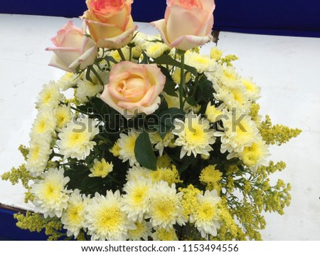 Various Kinds Bright Yellow Flowers Vase Stock Photo Edit Now