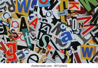 Various letters scattered