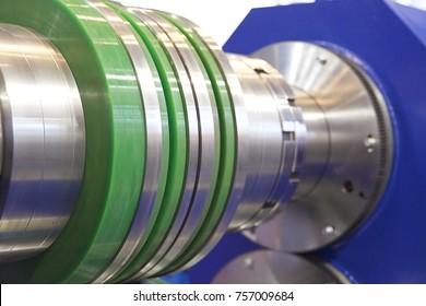Various metal elements of rolls of rolling mills, machine tools