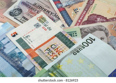 various of money