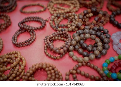 Various motifs of bracelets, necklaces, and rings from wood.Various motifs of bracelets, necklaces, and rings from wood.