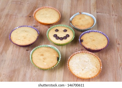 Various muffins ready to eat