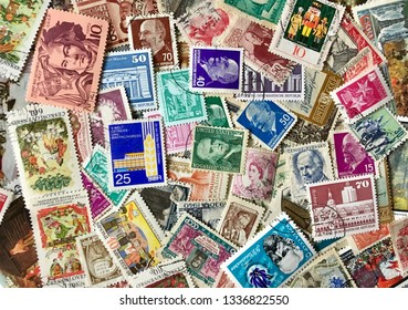 Various old postage stamps