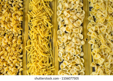 Various pasta spoons. Cooking concept. Top view
