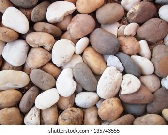 various pebble stones texture