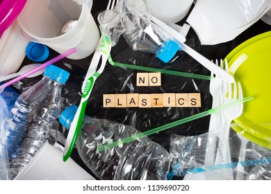 Various plastics and plastic containers for recycling