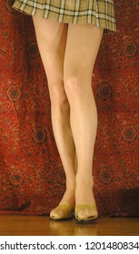 Various poses collection of beautiful legs with miniskirt