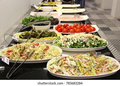 Various salads at Salad bar