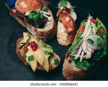 Various sandwich on plate