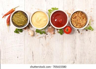 various of sauces
