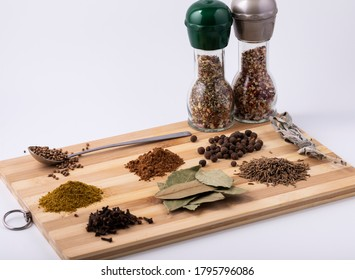 Various seasonings for cooking delicious dishes.The concept of a varied diet.