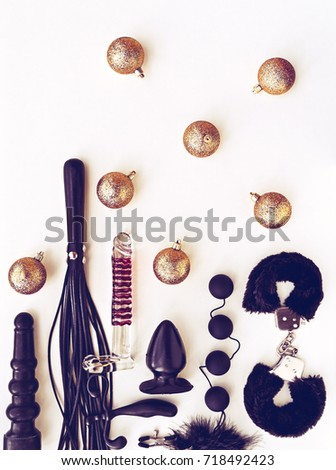 Glass and leather sex toys